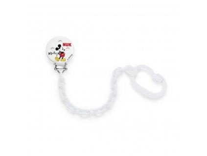 Řetízek na šidítko NUK Disney Mickey - bílá