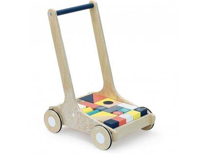 Vilac Dřevěný vozík s barevnými kostkami Canopée  + Dárek zdarma