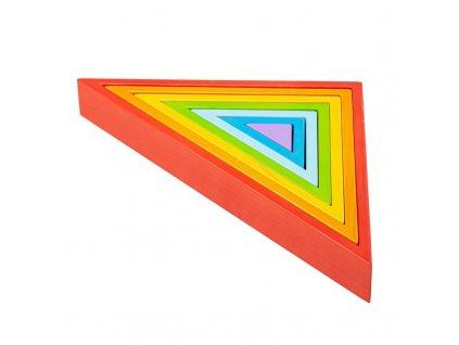 Bigjigs Baby Dřevěné skládací trojúhelníky  + Dárek zdarma