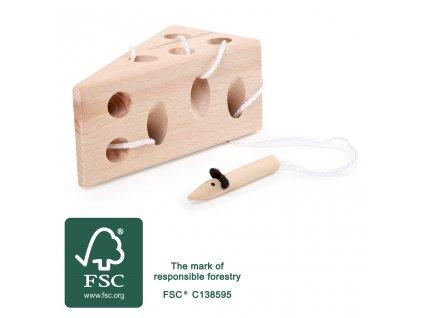 Small Foot Sýr přírodní s myší