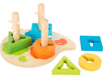 Small Foot Dřevěná hra barvy a tvary