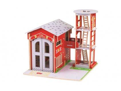 Bigjigs Toys Hasičská stanice  + Dárek zdarma