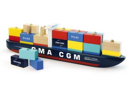 Vilac Skládačka kontejnerová loď