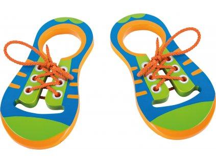 Small Foot Hra Zavaž si tkaničku Pár bot