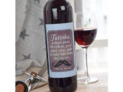 HOUSEDECOR Dárkové víno pro tatínka - červené (Lahvinka na mě)