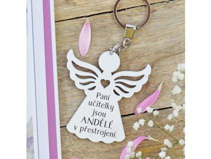 Klíčenka anděl - Andělé v přestrojení (pro paní učitelky)