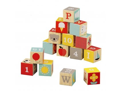Petitcollage Dřevěné kostky ABC