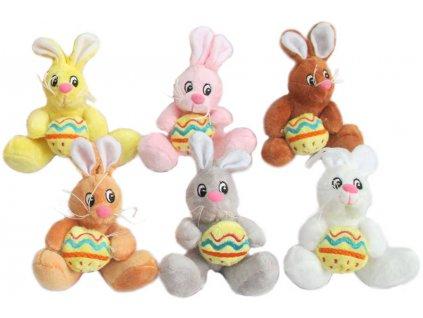PLYŠ Zajíček Bernie velikonoční barevný s vajíčkem různé barvy *PLYŠOVÉ HRAČKY*