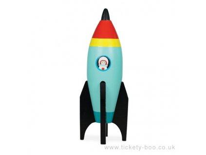 Le Toy Van barevná raketa 1 ks modrá