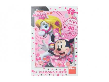Puzzle Minnie Mouse diamond 200 dílků