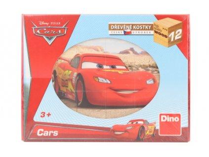 Dřevěné kostky - Cars ve světě 12