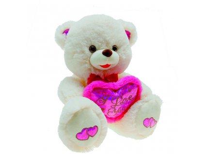 Medvídek plyšový se srdcem 38 cm