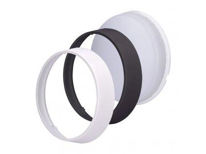 Solight LED venkovní osvětlení s nastavitelnou CCT, 12W, 900lm, 22cm, 2v1 - bílý a černý kryt