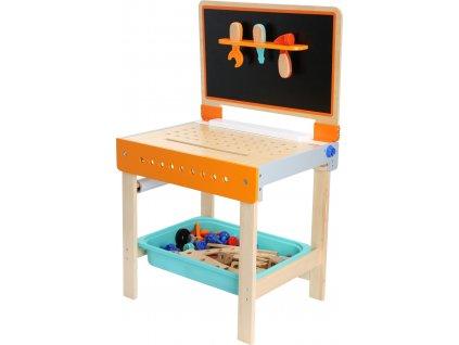 Small Foot Dřevěný sklápěcí pracovní stůl 2v1  + Dárek zdarma