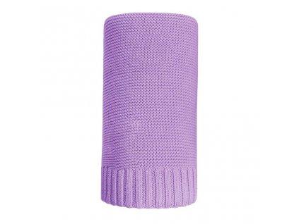 Bambusová pletená deka NEW BABY 100x80 cm - fialová
