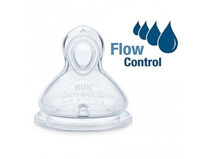 Savička Flow Control Nuk 6-18 m 2 ks - transparentní