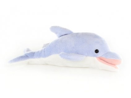 Plyš Delfín světle modrý