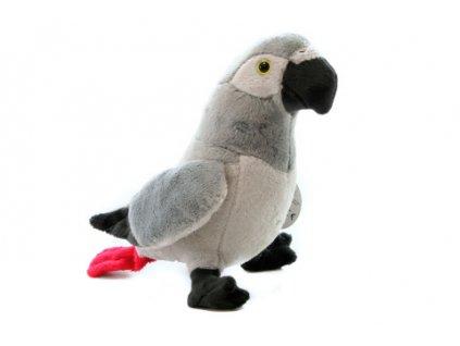 Plyš Papoušek šedý