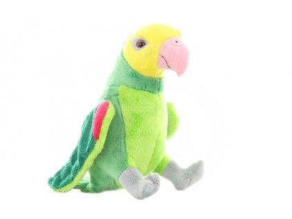 Plyš Papoušek zelený