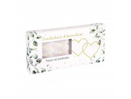Svatební hlavolam - Trezor na bankovku