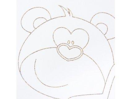 Dětská postýlka New Baby Medvídek s hvězdičkou se šuplíkem dub - dub riviera  + Nanopodložka, loupač, nebo desinfekce