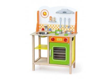 Dětská dřevěná kuchyňka Fantastic s příslušenstvím Viga - multicolor