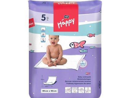 Bella Happy dětské přebalovací podložky, 90 × 60 cm, 5 ks