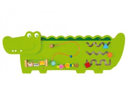 Dřevěná nástěnná hra - krokodýl  + Dárek zdarma