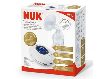 Elektronická odsávačka NUK Nature Sense+nádobka Sense 150 ml+dárek - bílá  + Dárek zdarma