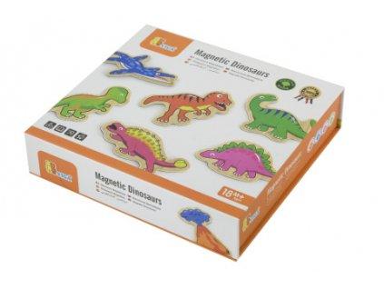 Dřevěné magnety 20 ks - dinosauři