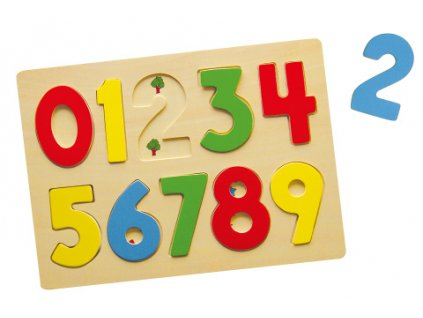 Dřevěná vkládačka - čísla