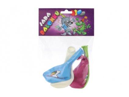 Balónky kulaté Jednorožec barevný potisk 4 ks