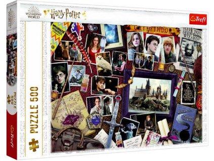 TREFL PUZZLE Harry Potter Bradavické vzpomínky 48x34cm 500 dílků skládačka