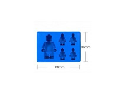 Forma na led - robot (Modrá)