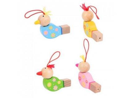 Bigjigs Toys Dřevěná píšťalka ptáček 1ks
