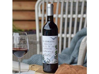 Víno - Přípitek na úžasného tátu (velké)
