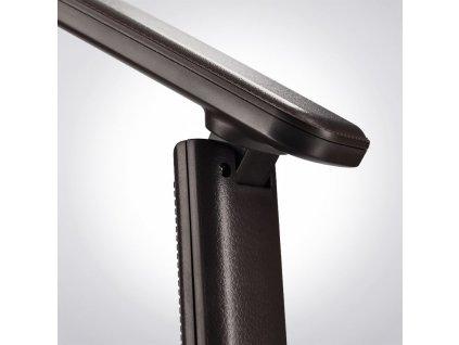Solight LED stolní lampička s displayem, 9W, volba teploty světla, kůže, hnědá  + Dárek zdarma