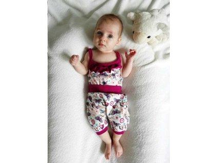 2-dílná letní bavlněná souprava New Baby Little Girl