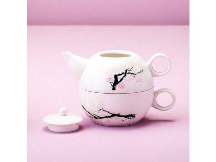 Kouzelná konvice na čaj s třešňovým květem