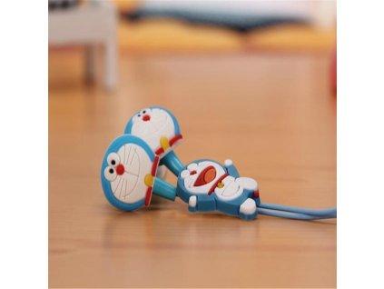 Sluchátka do uší - světle modrý kocourek