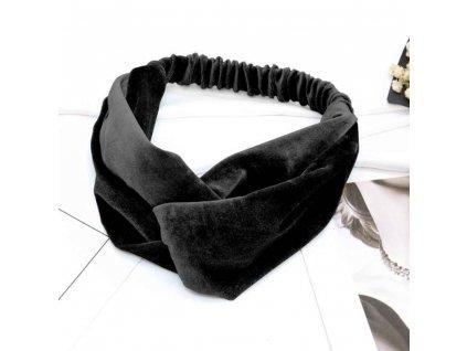 Elastická čelenka - černá