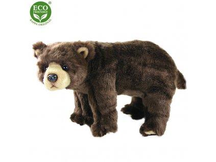 Plyšový medvěd hnědý stojící 40 cm ECO-FRIENDLY