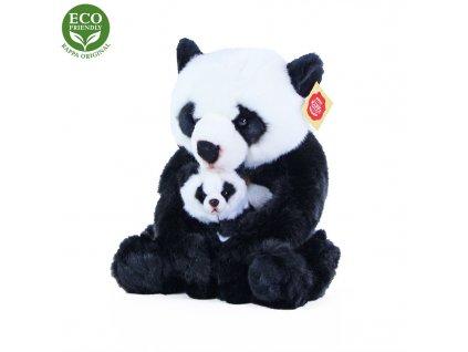 Plyšová panda s mládětem 27 cm ECO-FRIENDLY