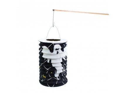 Lampion s dřevěnou hůlkou Halloween 15 cm