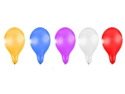 Nafukovací balónek metalický 30 cm 5 ks