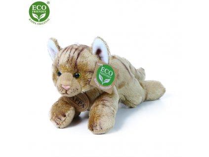 Plyšová kočka ležící hnědá 18 cm ECO-FRIENDLY