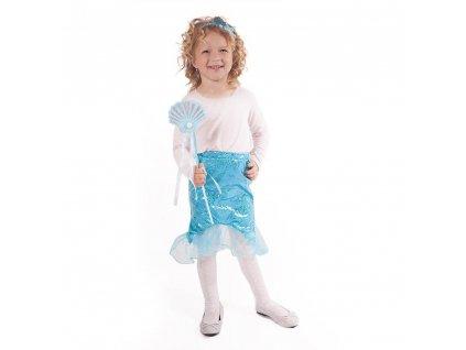 Dětská sukně mořská panna modrá