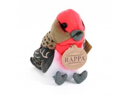 Plyšový pták barevný se zvukem 11 cm