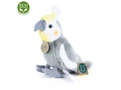 Plyšový papoušek Korela chocholatá 20cm ECO-FRIENDLY
