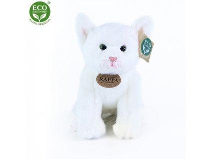 Plyšová kočka bílá sedící 24 cm ECO-FRIENDLY